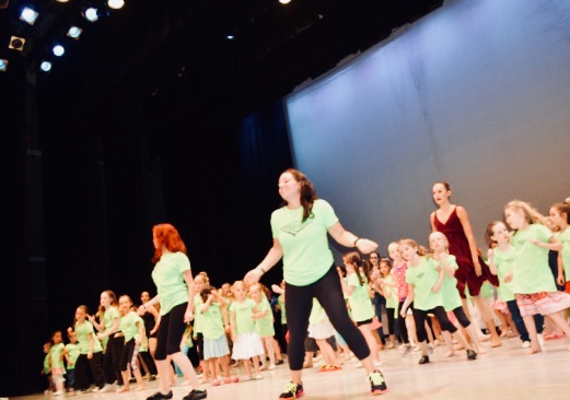 dancers of all ages get on stage